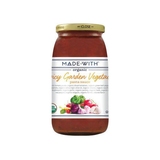 Made With Spicy Vegetable Pasta Sauce, 25 Oz (Pack of 6)