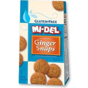 Mi del Gluten Free Ginger Snaps, 8 Oz (Pack of 8)