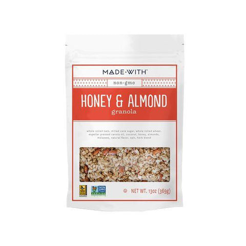 Made With Honey & Almond Granola, 11 Oz (Pack of 6)