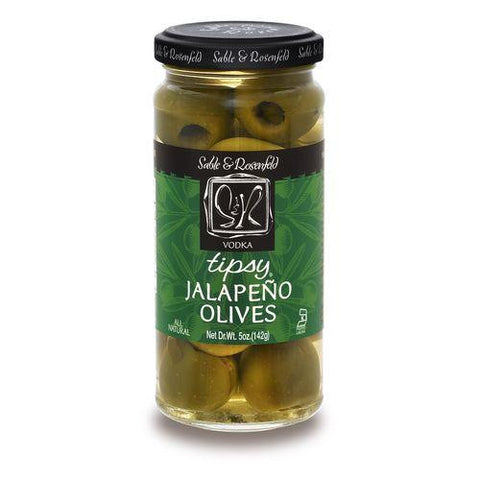 Sable & Rosenfeld Olives Vodka 'Kicked' Jalapeno Tipsy Olives, 5.3 OZ (Pack of 6)
