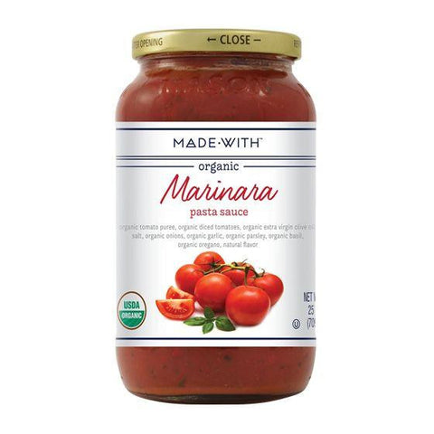 Made With Marinara Pasta Sauce, 25 Oz (Pack of 6)