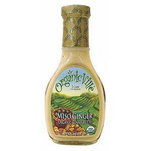 OrganicVille Miso Ginger Organic Vinaigrette , 8 OZ (Pack of 6)