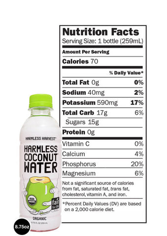 Harmless Harvest 100% Raw Coconut Water, 8.75 Fo (Pack of 12)