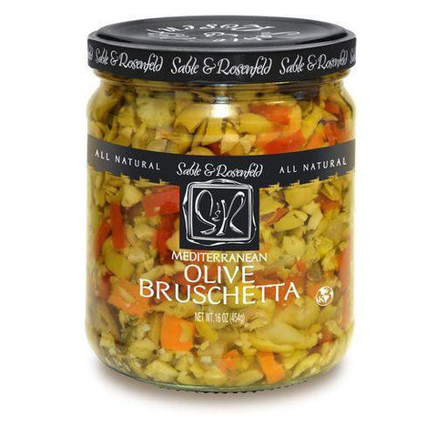 Sable & Rosenfeld Mediterranean Olive Bruschetta, 16 Oz (Pack of 6)
