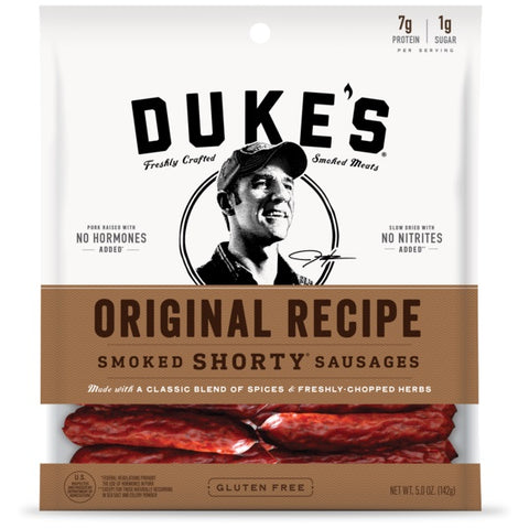 Duke's Smoked Shorty Sausage Original, 5 OZ (Pack of 8)