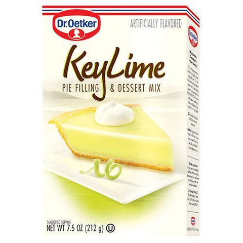 Dr.Oetker Key Lime Pie Filling & Dessert Mix, 7.5 Oz (Pack of 12)