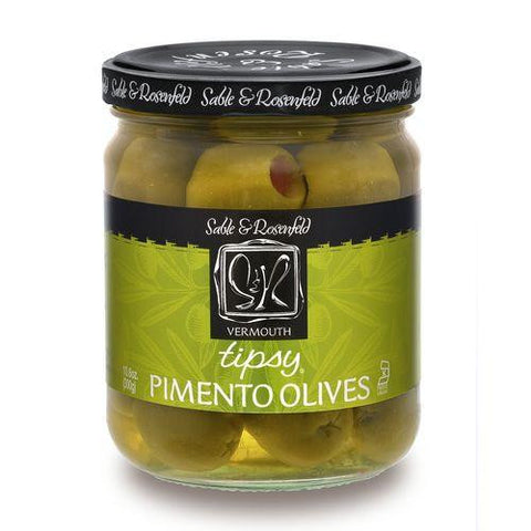 Sable & Rosenfeld Vermouth Tipsy Olives, 10.6 OZ (Pack of 6)
