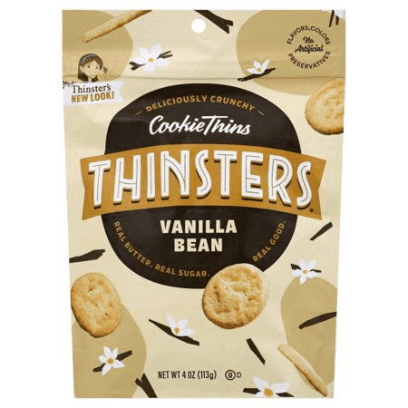 Mrs Thinsters Vanilla Bean Cookie Thins, 4 OZ (Pack of 12)