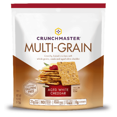 Crunchmaster Multiseed Aged White Cheddar Cracker, 4.0 OZ (Pack of 12)