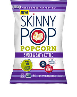 SkinnyPop Sweet & Salty Kettle Popcorn, 5.3 Oz (Pack of 12)