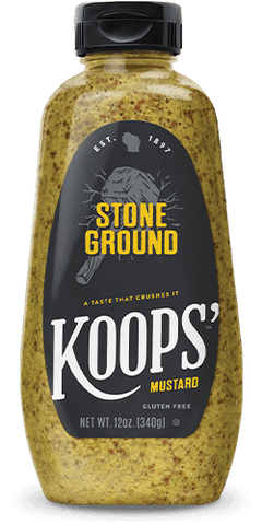 Koops Stone Ground Mustard, 12 OZ (Pack of 6)