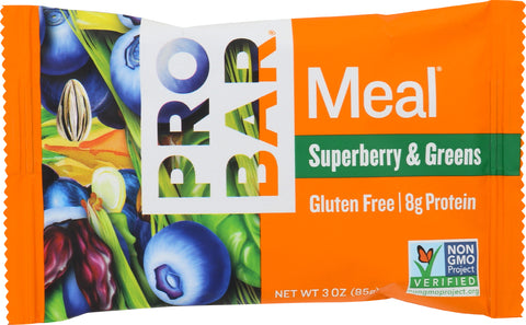 Probar Superberry & Greens Meal Replacement Bar, 3 OZ (Pack of 12)