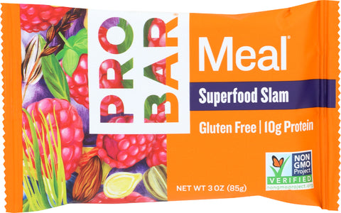 Probar Superfood Slam Meal Replacement Bar, 3 OZ (Pack of 12)