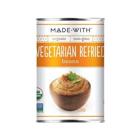 Made Wish Vegetarian Refried Beans, 15 Oz (Pack of 12)