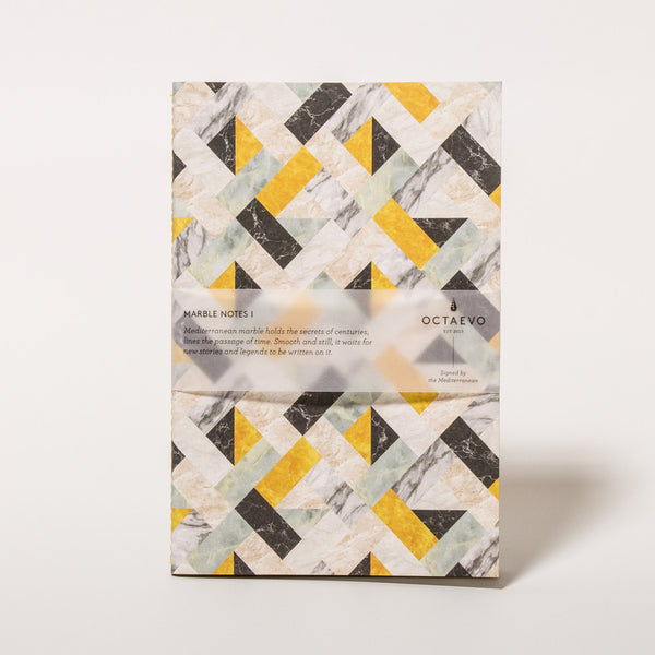 Marble Notes Yellow Notizbuch