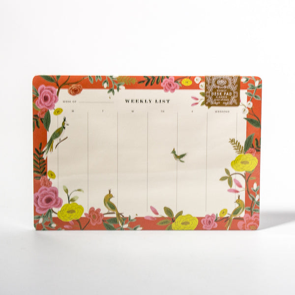 Shanghai Garden Weekly Desk Planner von Rifle Paper Co.