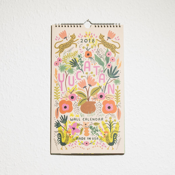 Kalender Yucatan 2018 von Rifle Paper Co.
