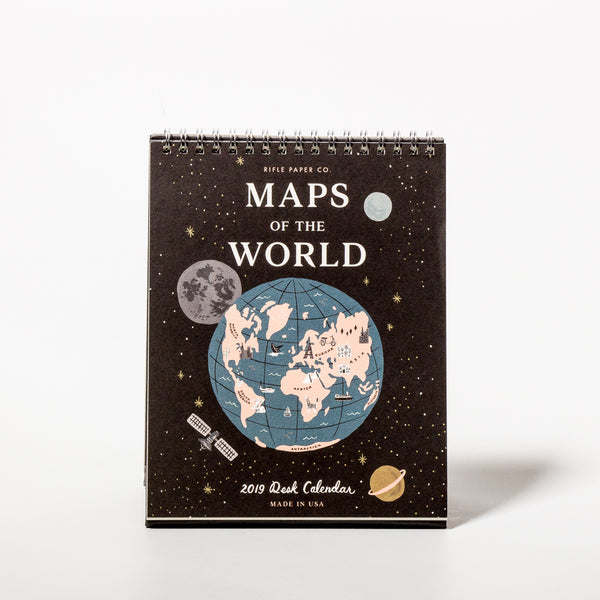 2019 Maps of the World Tischkalender