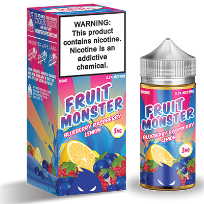 Fruit Monster 100ml (3mg) - Blueberry, Raspberry & Lemon