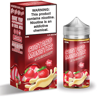 Custard Monster 100ml (3mg) - Strawberry