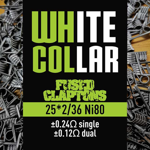White Collar Coils Fused Claptons 25x2/36