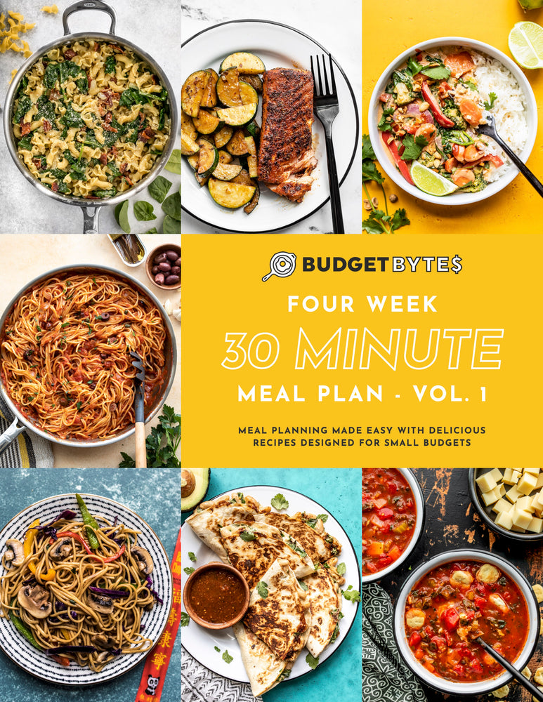 30 Minute Monthly Meal Plan cover