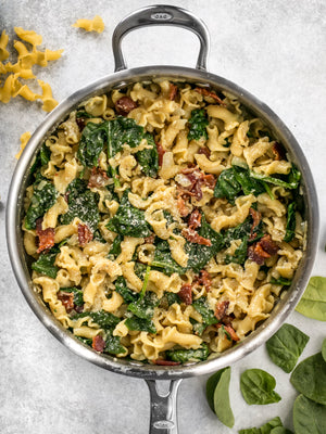 Load image into Gallery viewer, Bacon and Spinach Pasta with Parmesan