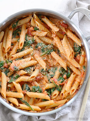 Load image into Gallery viewer, creamy tomato spinach pasta