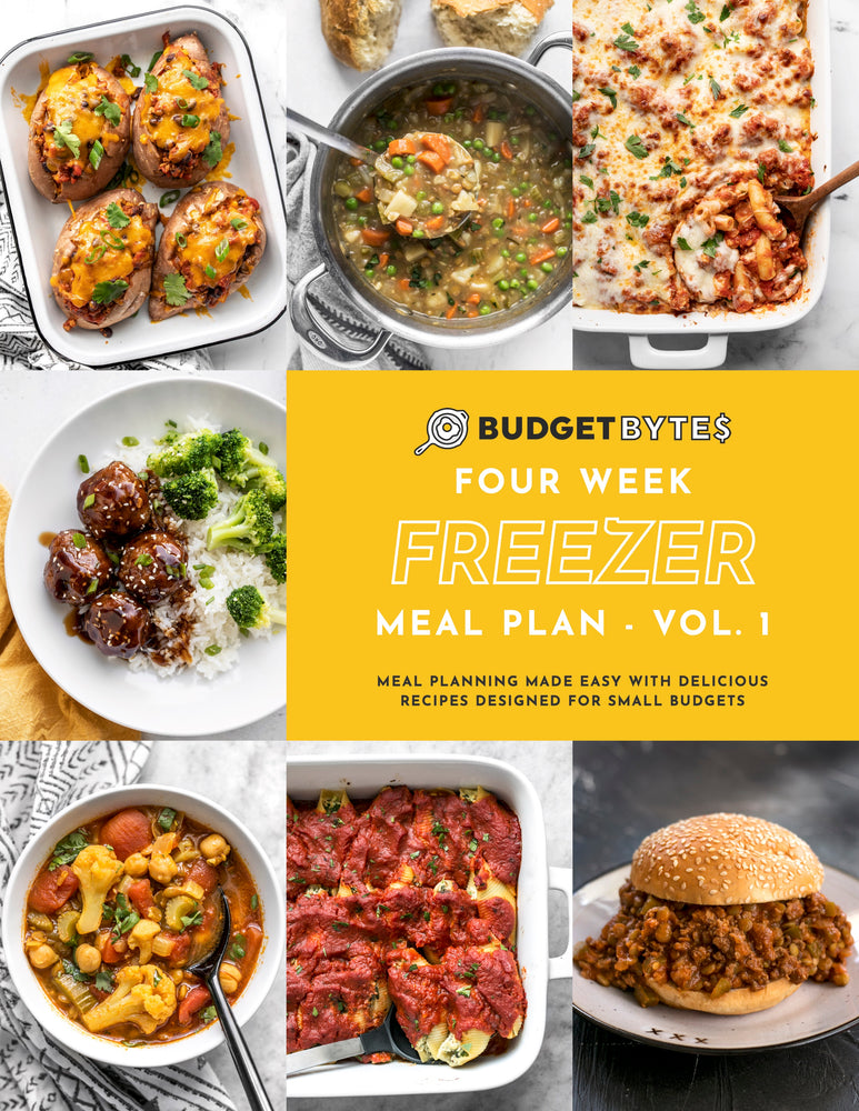 Freezer Friendly Monthly Meal Plan