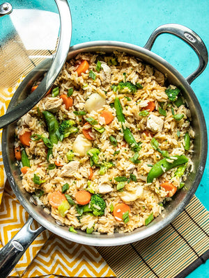 Load image into Gallery viewer, one pot teriyaki chicken and rice