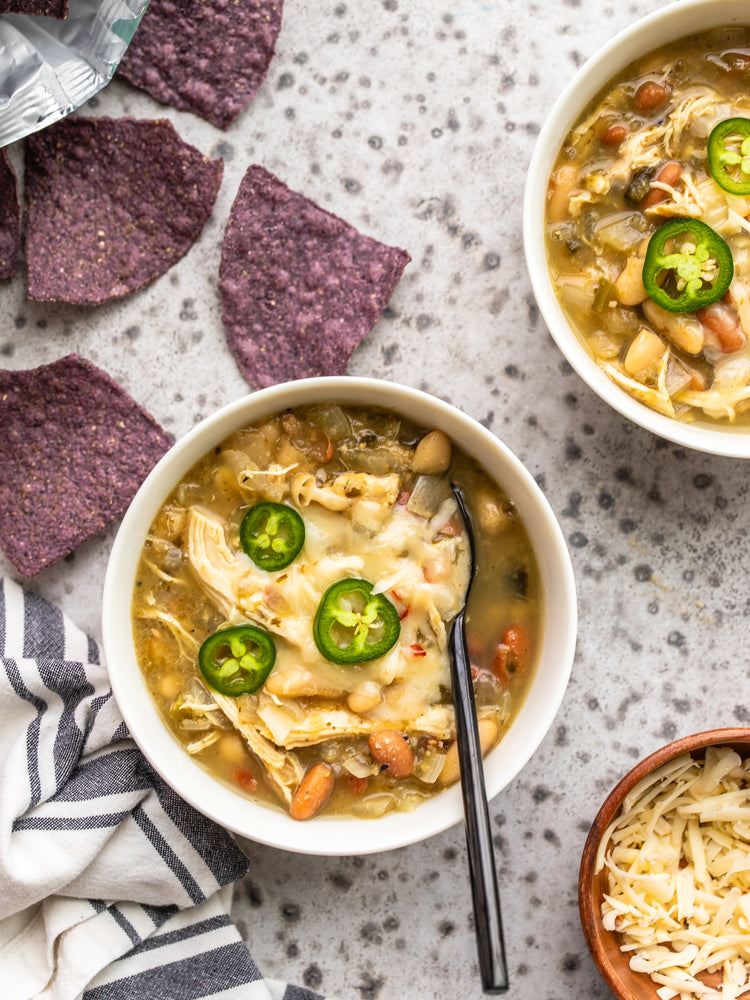 Load image into Gallery viewer, Slow Cooker White Chicken Chili Bowls