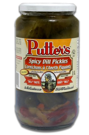 Putter's Spicy Dill Pickles 1Lt