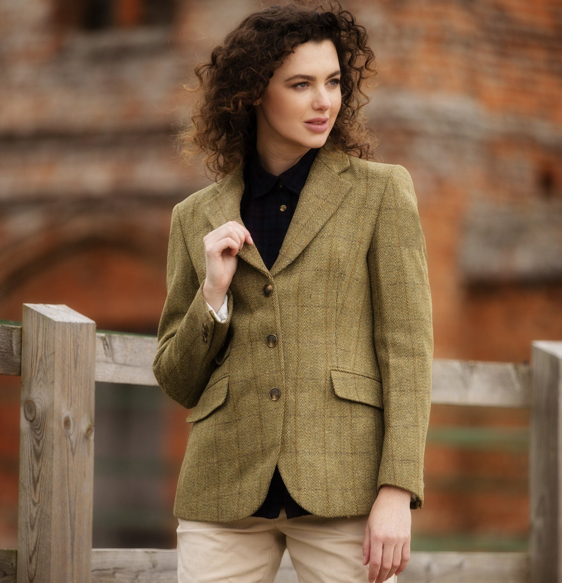 Image of   Mayland ladies hacking jacket, tweed, lys salvie