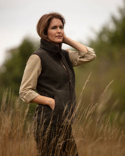 Sussex Ladies Tufted Fleece Gillet vest, olivengrøn