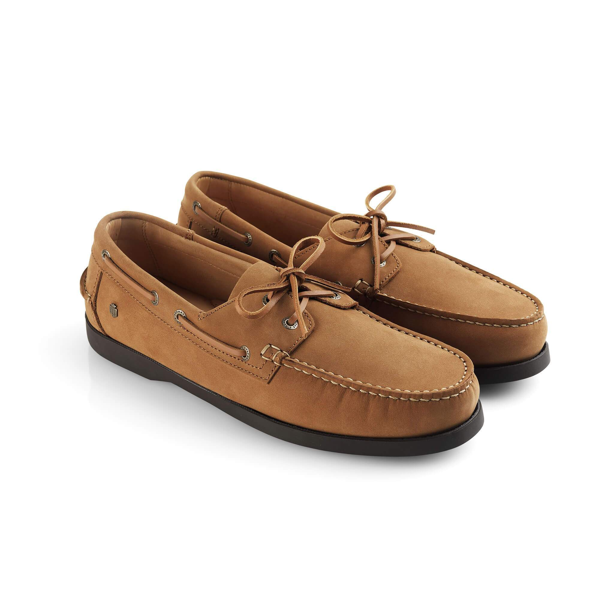 Padstow Mens Deck Shoes, sejlersko, ruskind, lysebrun/tan