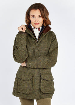 Ballynahinch Ladies Tweed Shooting Coat GORE-TEX, Heath