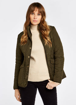 Bettystown Short Ladies Quilt Jacket, Olive green