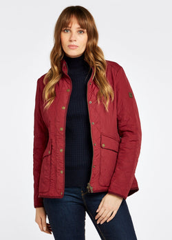 Bettystown Short Ladies Quilt Jacket, Ruby red