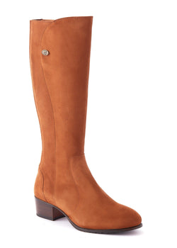 Downpatrick Ladies Knee-high støvle ruskind, Camel lysebrun