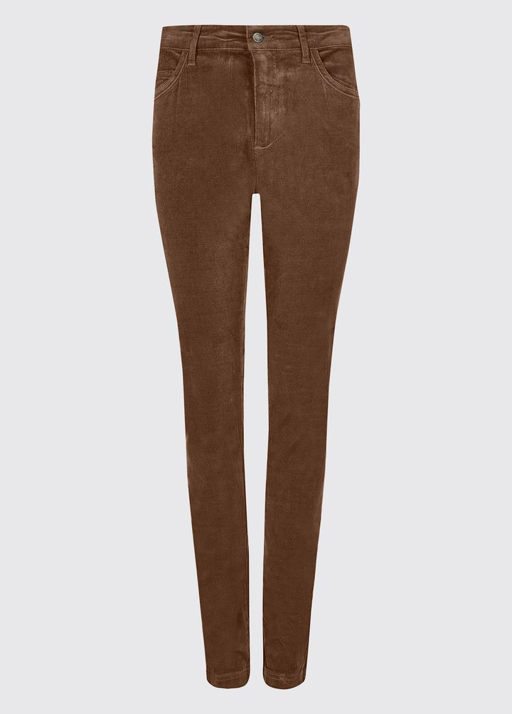 Honeysuckle Ladies Stretch Pincord Jeans, Mocha