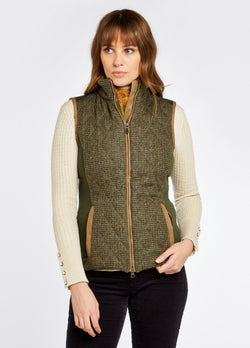 Juniper Ladies Tweed Gillet, Heath