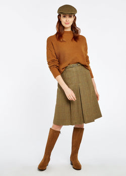 Spruce Knee-length tweed skirt, Elm