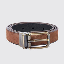Foynes Reversible Ladies Belt bælte, læder, walnut/black