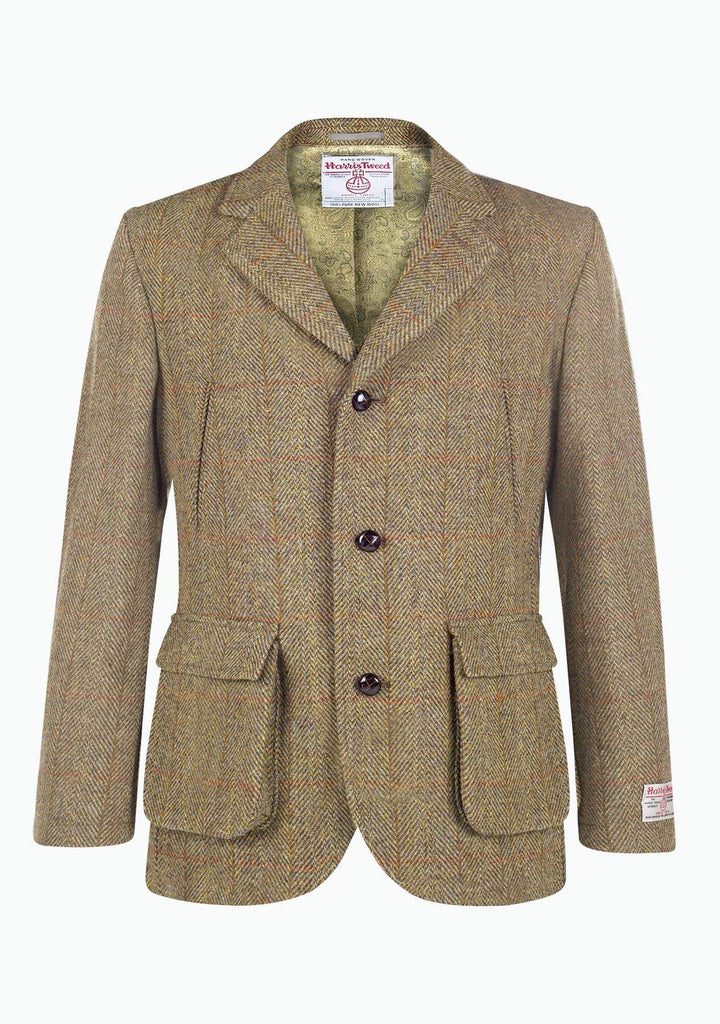 Callum Utility Jacket Harris Tweed, mustard herringbone