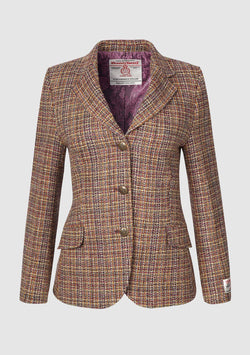 Claire Hacking Jacket, Harris Tweed, Pink Multi tern