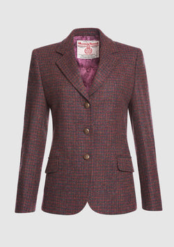 Claire Hacking Jacket, Harris Tweed, Lilla Mix