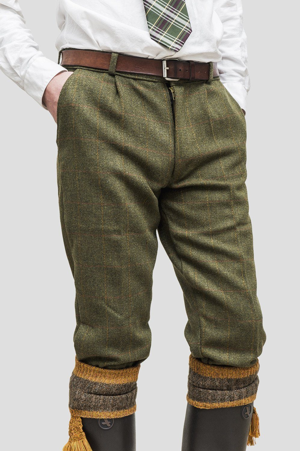 Image of   Tweed Country Breeks knickers, mørk grøn