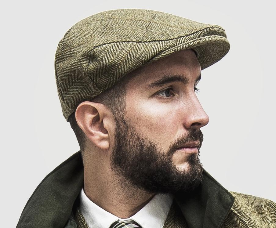 Tweed Country sixpence hat, lys salvie