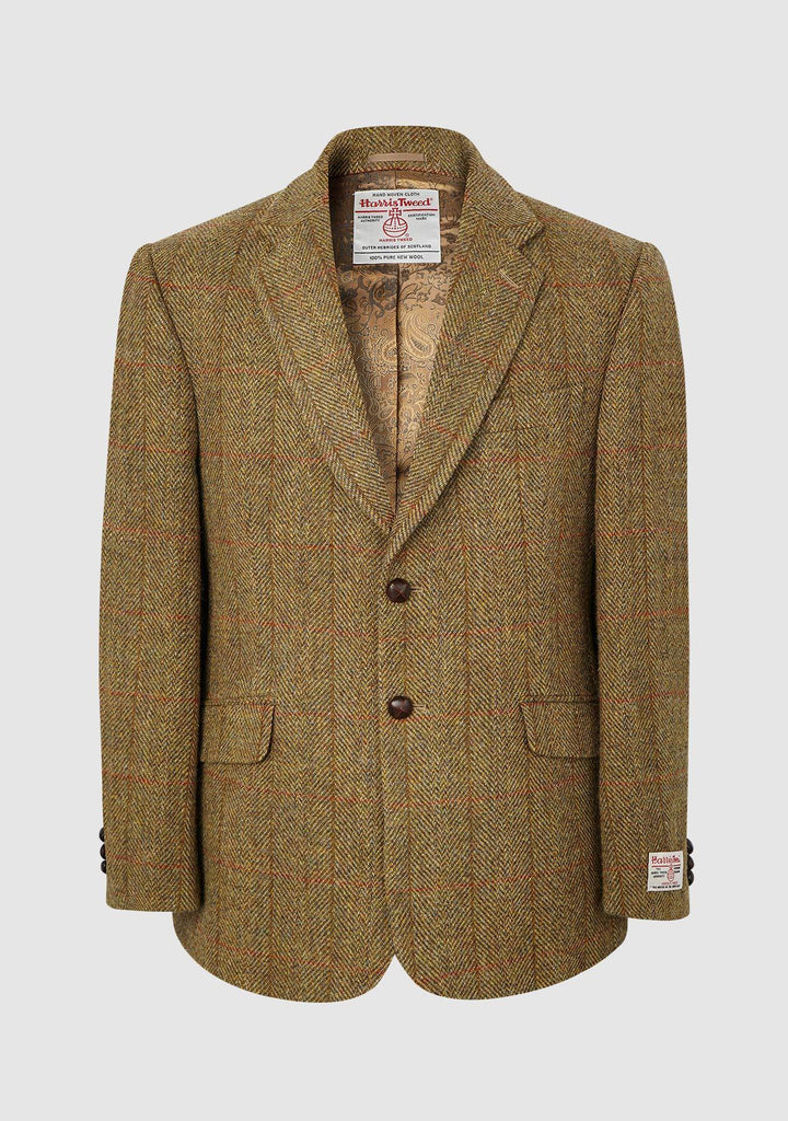 Finlay Jacket Harris Tweed, mustard herringbone