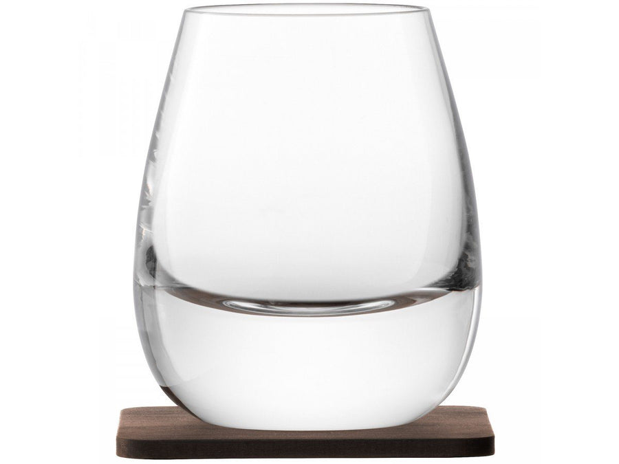 Whisky Islay Tumbler glas x 2, 250ml, med bordskåner i valnød